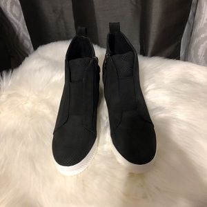 Shoes - Zoey Wedge Sneaker Nubuck Black